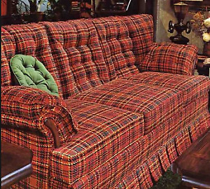 Older Style Plaid Pull Out Couch