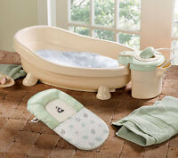baby bath tub with shower attachment.