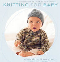 3 craft books (knitting for baby,cross stitch)