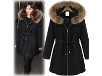 ladies really really warm fur lined coat