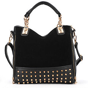 Fashion Women's Handbag Flat Studs Day Clutch Evening Messenger Shoulder Bag