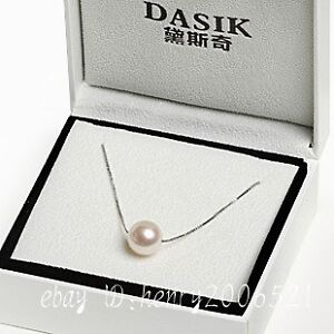 Natural freshwater , pearl necklace 925 silver chain single-hole pendant 9-10 mm
