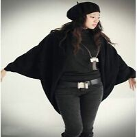 new Loose-Fitting Open Front Batwing Sleeve Cardigan