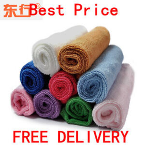 10 Microfibre Cleaning Cloth Towels 25cm x 25cm