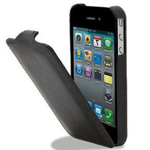 Apple iPhone 4S 4GS 4 4G Slim Flip Leather Pouch Case Covers