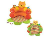 Mothercare inflatable baby cat sit me up cosy / nest / toy