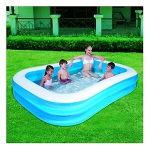 Piscine gonflable rectangulaire + clhore