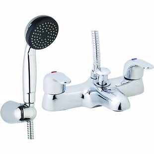 Wickes Shower Baths wickes rhine bath shower mixer and mono basin mixer in chrome | in