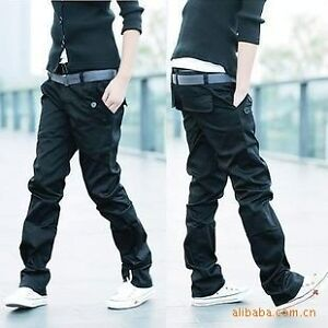 2013 New Men's Stylish Double Waist Straight Slim Fit Trousers Casual Pants 5 Sz
