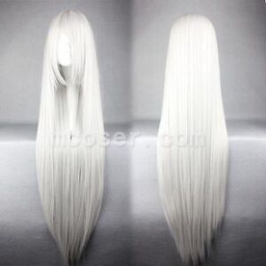 9 Colors heat resistant ramp bangs long Straight Cosplay lady's Hair Wigs 31