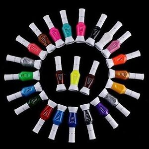 High Quality 24pcs Colors Glitter Varnish Polish Nail Art Brush Pen Two Ways Use