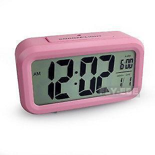 pink digital alarm clock ebay. Black Bedroom Furniture Sets. Home Design Ideas