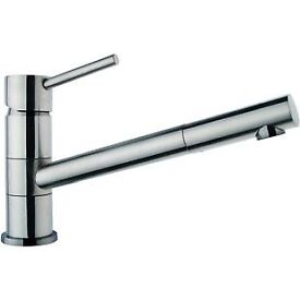 Wickes Tuya Single lever brushed kitchen mixer tap