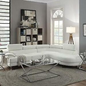 Right Hand Chaise Lounger (White) - Brand New, Never Used!