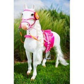 Our generation white hair play horse. Rrp £40