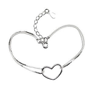 Heart Shaped Bracelet Fine Sterling Silver  on Rummage