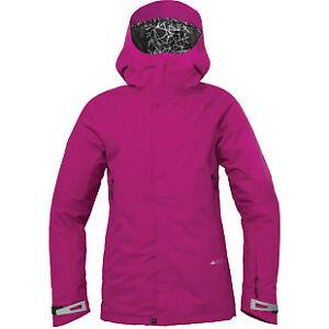 686 Glacier Chrystal Women Snow Jacket Pink XS