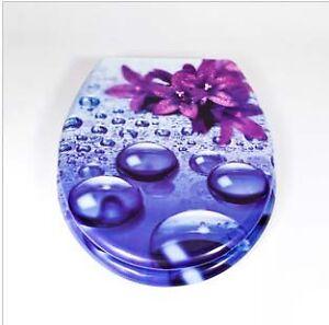 Top grade bathroom accessories purple printing resin for Purple toilet accessories