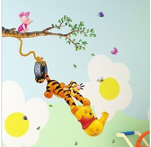 Winnie The Pooh SwingWall Sticker Decal Decor Removable Nursery Kids Art Baby