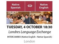 Native Spanish - Native English - Londres Language Exchange - Tuesday 4th October