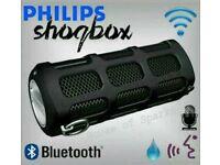 Philips SHOQBOX BLUETOOTH PORTABLE SPEAKER. AMAZING SOUND!