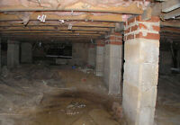 Foundation Crack, Basement Leak Repair Services, Waterproofing