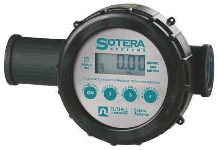 SOTERA 850 Meter,Digital,1 In,Air Sensor,2-20 gpm