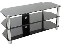 Black glass tv stand !! *need gone asap*