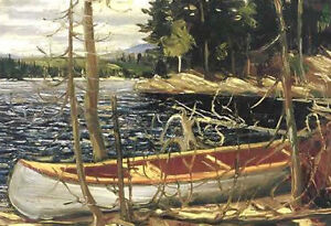 """Tom Thomson """"The Canoe"""" Regal Collection Giclee Canvas"""