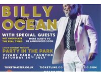 2 x Billy Ocean Party In The Park Tickets Taunton