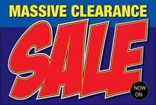 MASSIVE CLEARANCE SALE!! DON'T MISS OUT!! Enfield Port Adelaide Area Preview