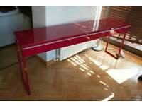 Desk from IKEA red high gloss