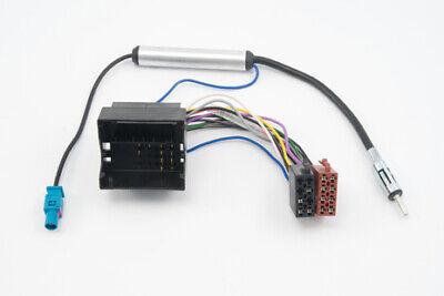 Adaptador de Radio Quadlock Iso Citroen Peugeot Fakra Alimentación Phantom Cable