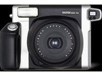 Polaroid Camera Fujifilm Instax Wide 300 +Retro Leather Case -Excellent condition box +accessories!