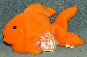 Goldie the goldfish Ty Beanie Baby stuffed animal 4th generation