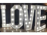 LOVE Letter Lights Hire £150