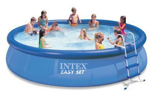 Intex swimming pool 15 ebay for Swimming pool treatment options