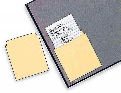 Library Card Pockets : Set of 50 Nonadhesive Pockets, Stationery by Ideal (CO... - Library Card Pockets