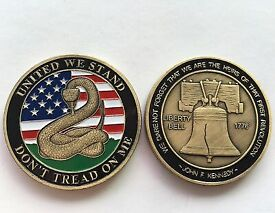 DON'T TREAD ON ME Coins Commemorative Collectibles Souvenir BADGE Coin