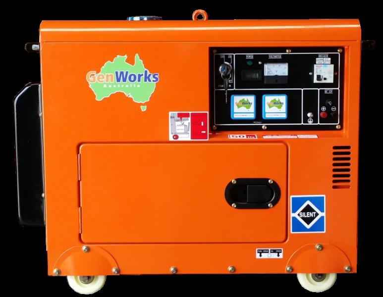 Portable Diesel Generators 3.6kVA - 6kVA Single & Three Phase