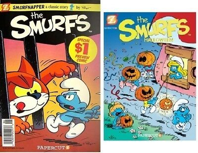 SMURFS #1 smurfnapper preview comic & HALLOWEEN #1 2010 special PAPERCUTZ lot - Halloween Preview