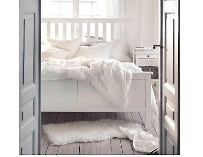 White woode Ikea Hemnes Bed - perfect - under 10months | in Hackney ...