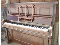 FREE Metal-framed upright PIANO - free to collector - to play, or re-purpose, or for scrap metal