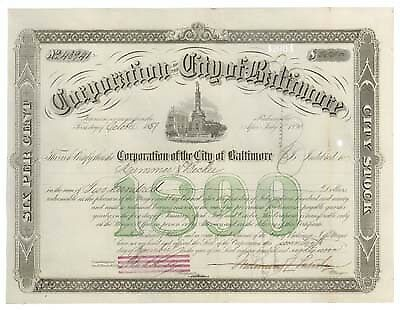 CORPORATION OF THE CITY OF BALTIMORE BOND
