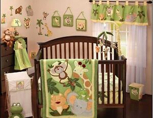 Nojo Jungle Theme Nursery Bedding