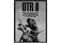 2 x BEYONCE AND JAY-Z TICKETS OTR II TOUR 6th JUNE CARDIFF 2018 WEST STANDING