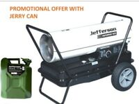 JEFFERSON SPACE HEATER 105,000 BTU ADJUSTABLE THERMOSTAT INFERNO 105 + JERRY CAN
