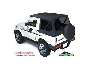 Suzuki Sierra Soft Top 1981-98 - TINTED  Black, NEW, In-stock AUS, FREE delivery