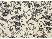 Laura Ashley wallpaper - five rolls, Charcoal/Biscuit pattern