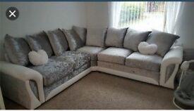 Exclusive corner sofa elegant style FOOTSTOOL comes free
